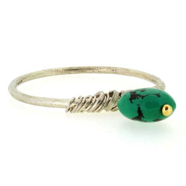 Turquoise drop bangle